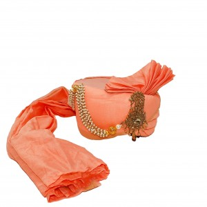 Silk Turban -Peach